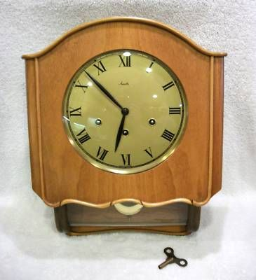 ANTIQUE MAUTHE WESTMINSTER CHIMES GERMAN WALL CLOCK NR