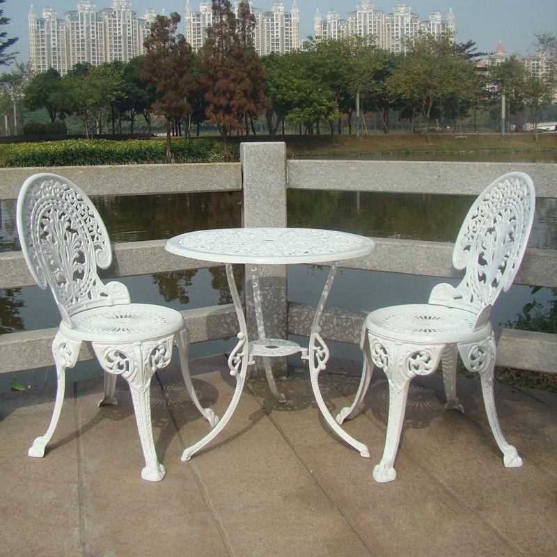 Korbaluminiumguss Gartenmobel Set Tisch Und 2 Stuhle