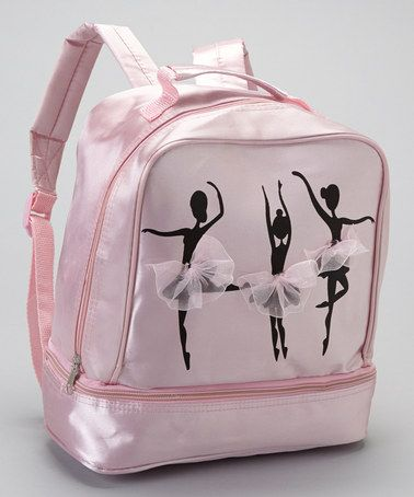 For my little ballerina!  Loving this Pink Ballerina Satin Backpack on #zulily! #zulilyfinds