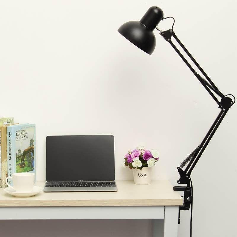 New E27 Reading Light Led Table Lamp For Bedroom Iron Foldable