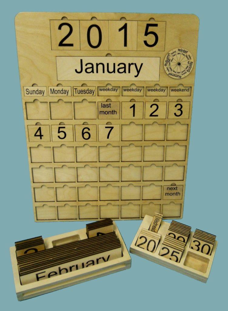 Montessori Wood Perpetual Calendar Auction Projects Calendario