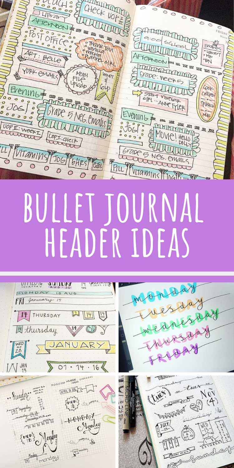 25 Bullet Journal Headers You Need to Try ASAP to Liven Up Your BUJO!