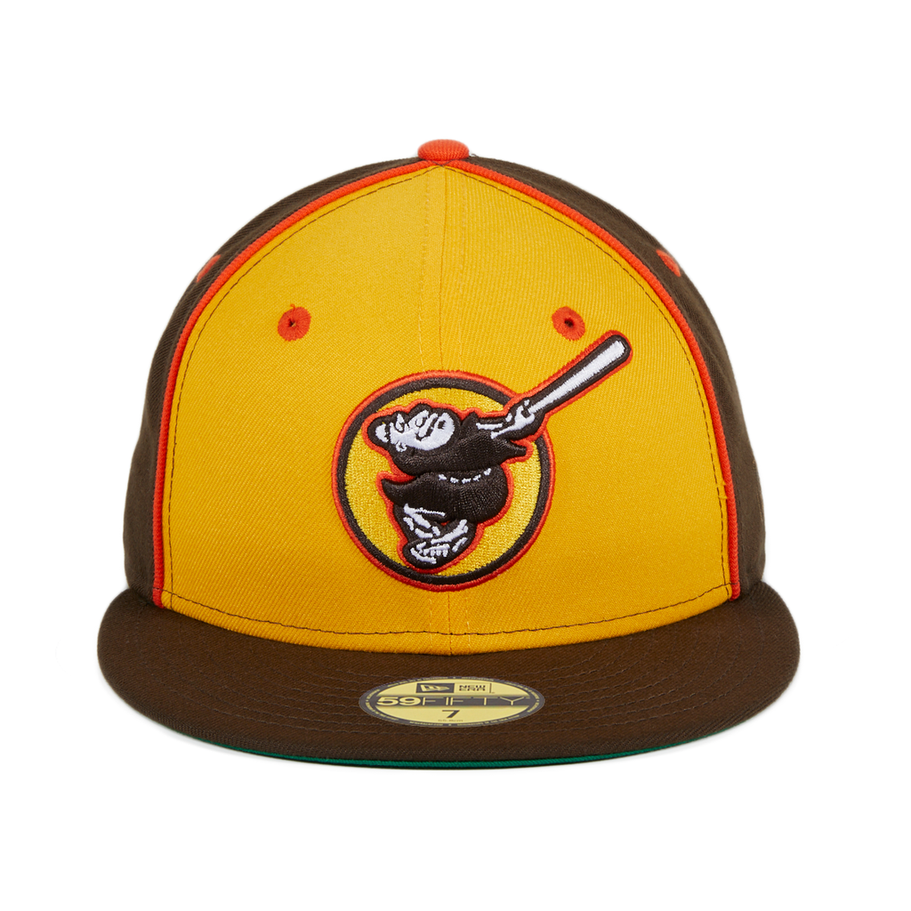 New Era 59fifty San Diego Padres Friar Alternate Rail Hat Gold Brow Hat Club New Era 59fifty San Diego Padres New Era