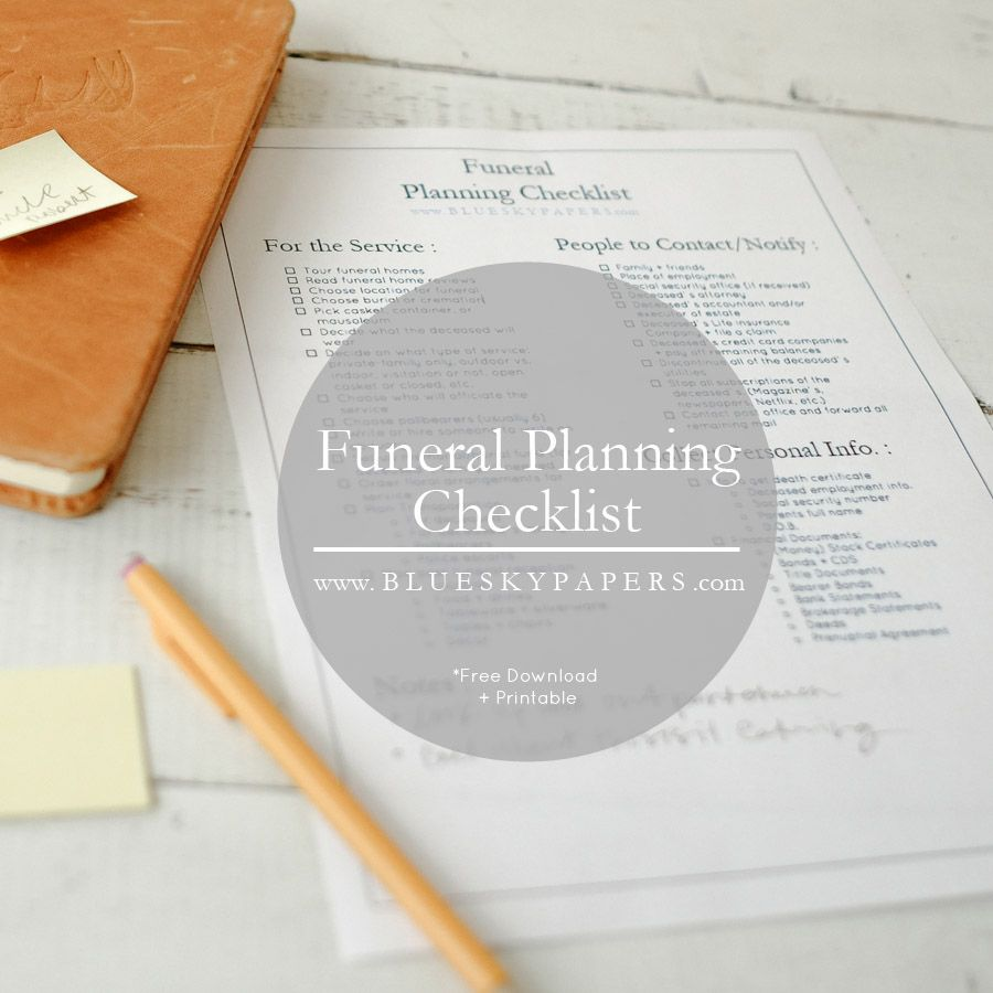 How to Plan a Funeral + Free Funeral Planning Checklist