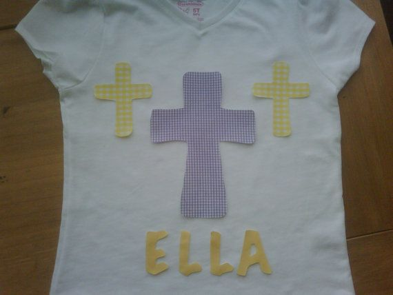 Custom boutique Easter Cross girls T shirt or by EverythingSorella, $25.00