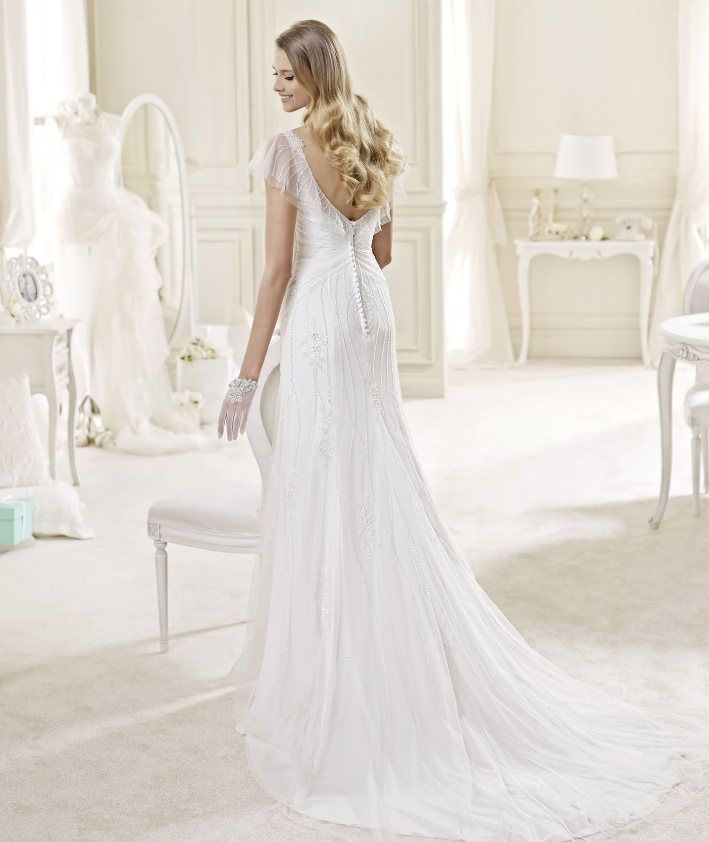 Long sleeve ivory wedding dress  Nicole Spose  Collection  WEDDING GOWN LOVE   Pinterest