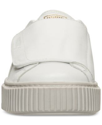 88edd3f2add Puma Women s Basket Platform Strap Casual Sneakers from Finish Line - White  9.5