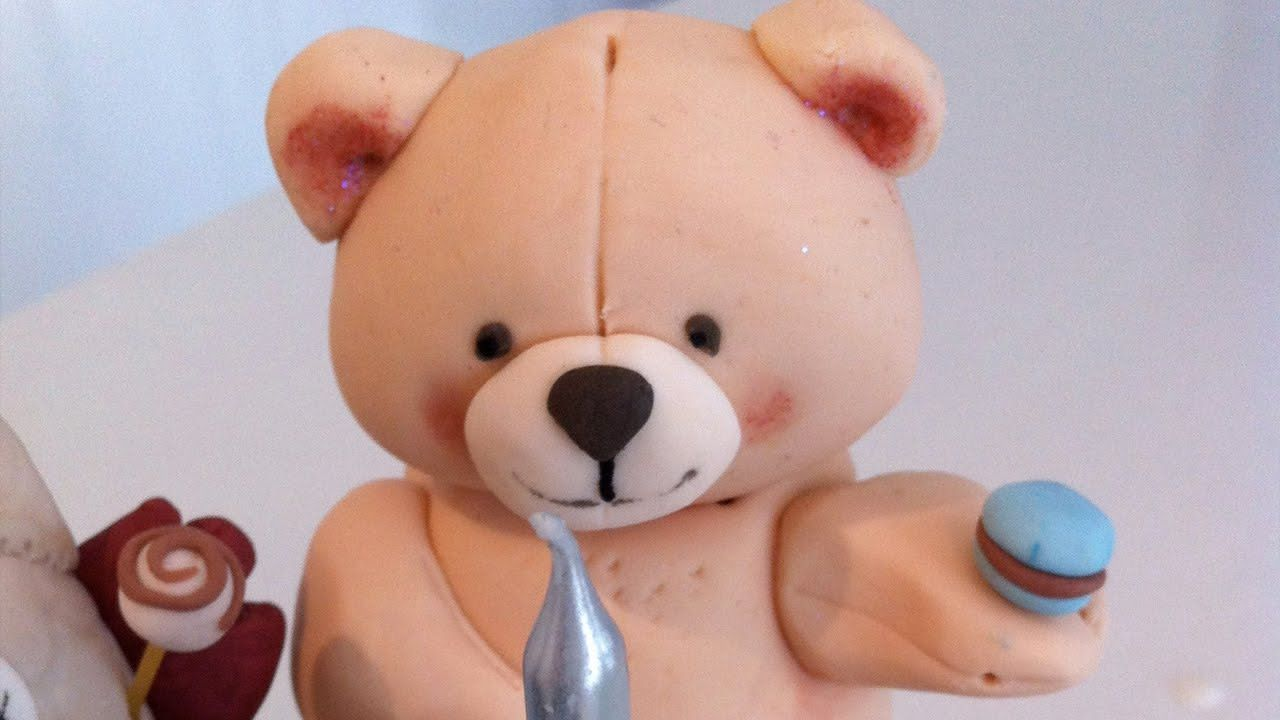 Cake Decorating Animal Figures How To Make A 3d Fondant Teddy Bear Cake Decorating Tutorial How