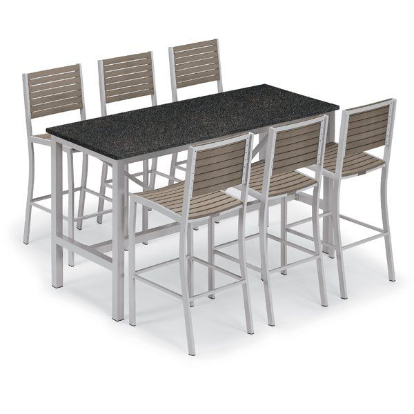 Best Comfortable Maclin 7 Piece Bar Height Dining Set By Latitude