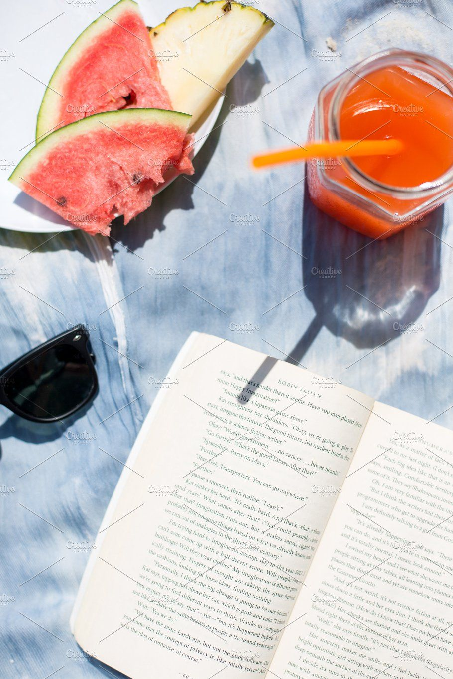Summer Vacation Flatlay Details by Styled Life Stock on @creativemarket #summervacationstyle