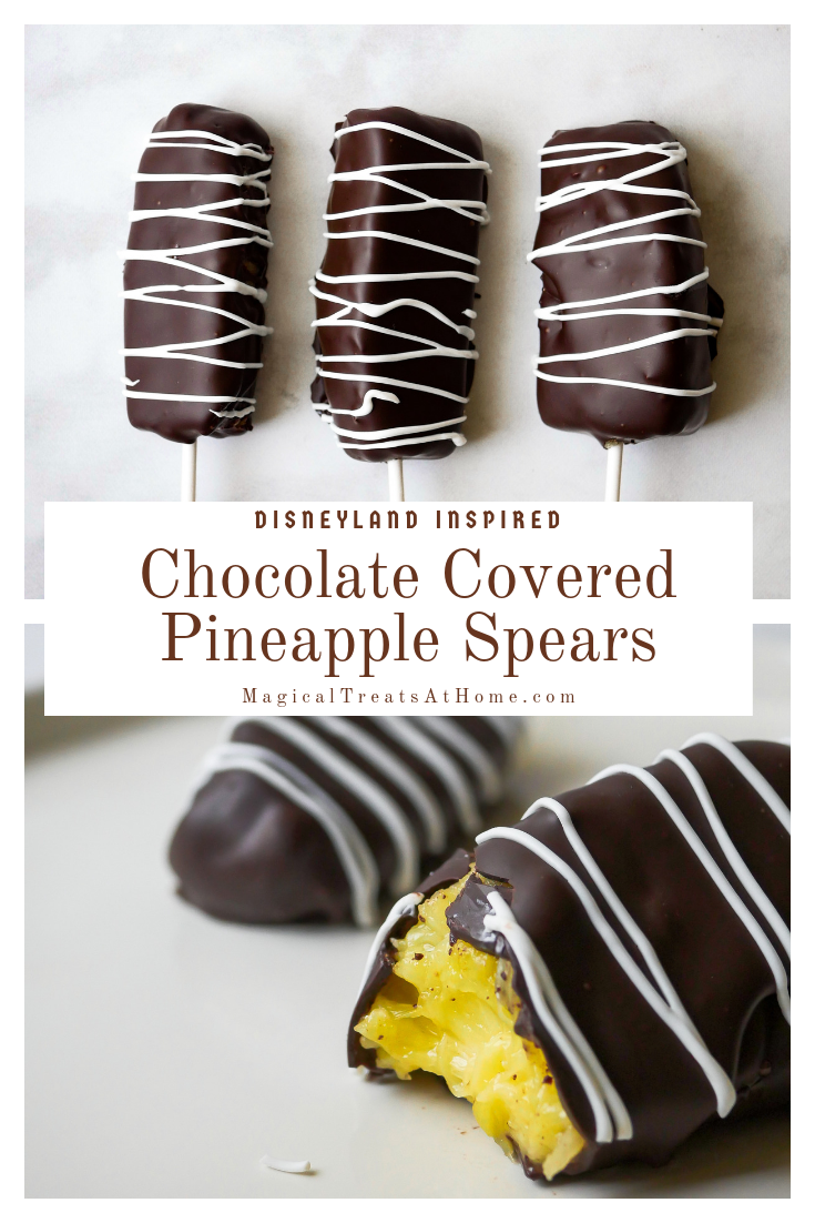 Disney-inspired Chocolate Covered Pineapple Spears