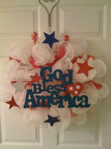 American mesh wreath!