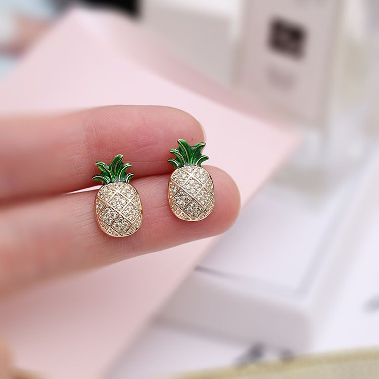 e70ac6ef85b00 Silver Needle Jewelry Pineapple Earrings | Earrings | Earrings ...