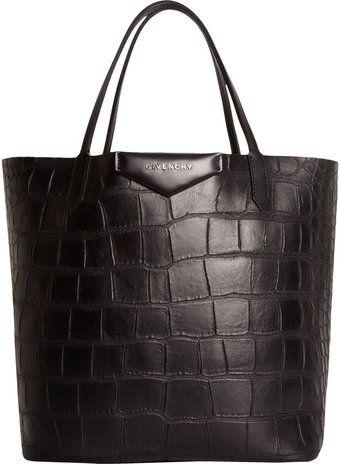 Givenchy Crocstamped Medium Antigona Shopper - Lyst  b25a23008c3d0