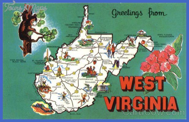 West Virginia Map Tourist Attractions httptoursmapscomwest