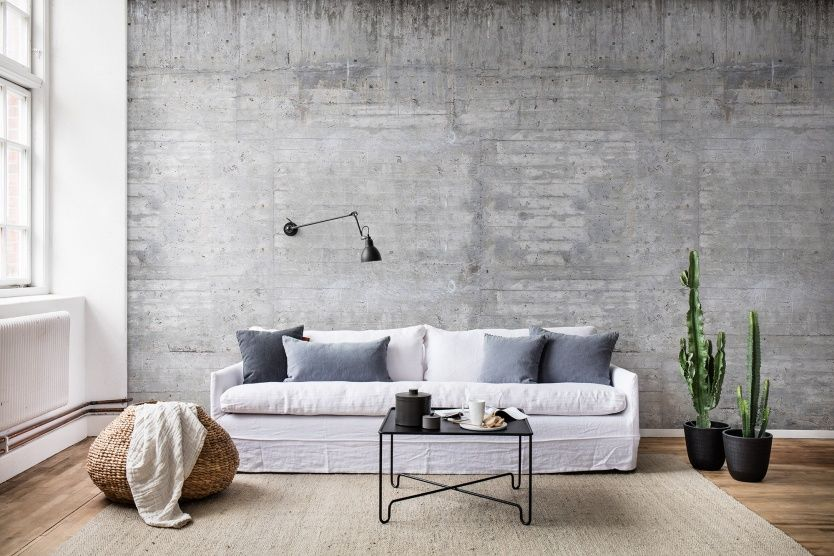 Behang Concrete Beton Grijs Wall Mural Concrete Bij Webshop Www Living Shop Eu Woonkamer Stijl Betonnen Interieurs Thuis Behang
