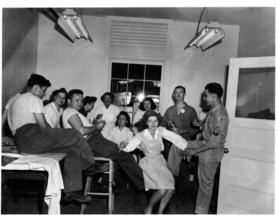An office party at Los Alamos
