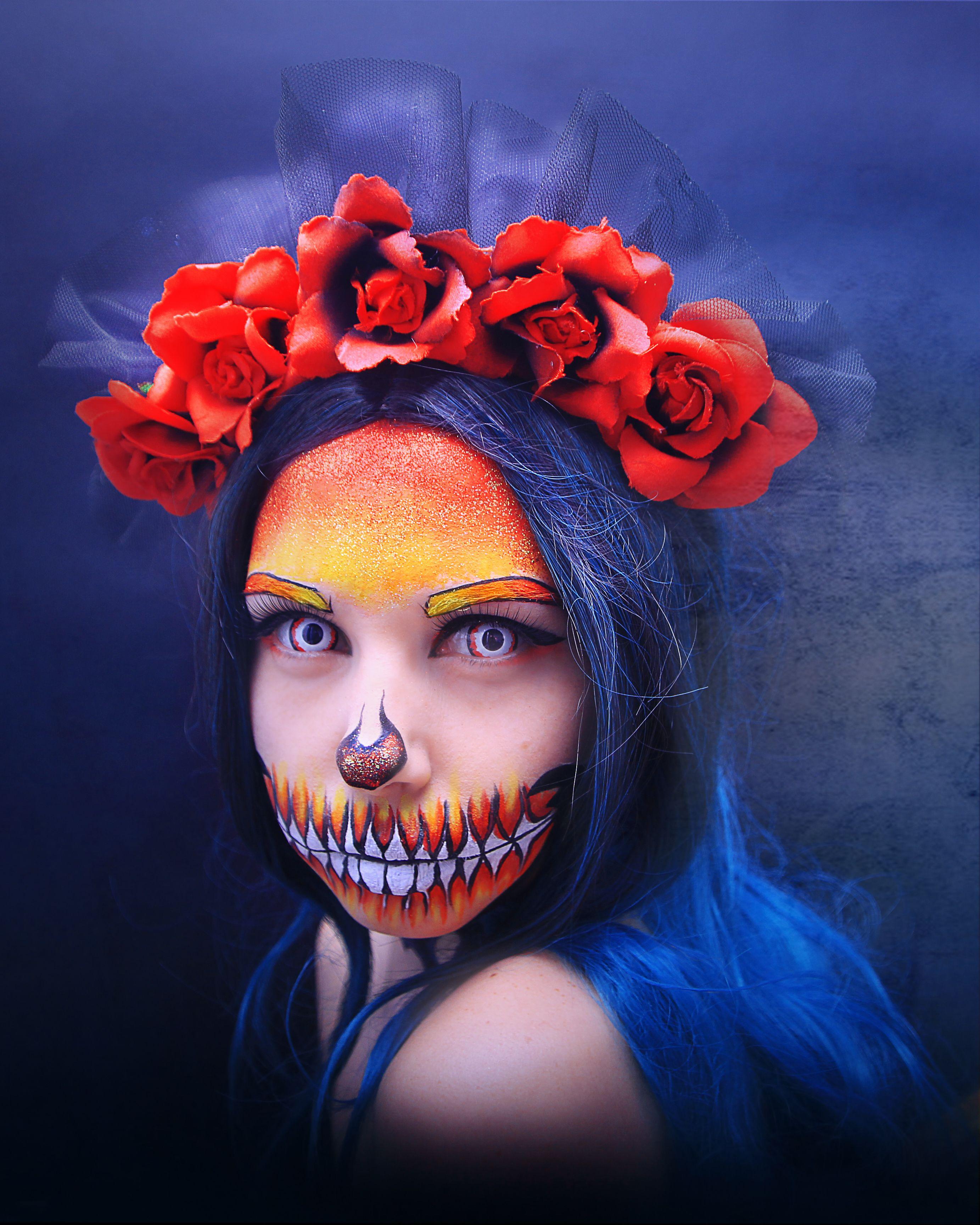 Мой грим к Хэллоуину 2018. Halloween makeup 2018