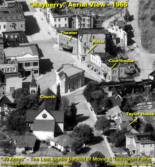 Mayberry The Town Of Mayberry Overhead Shot As