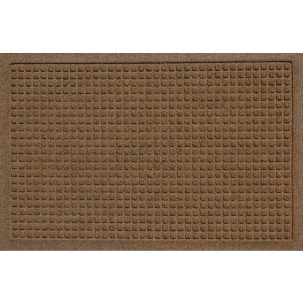Bungalow Flooring Aqua Shield Squares Khaki 17 5 In X 26 5 In Door Mat 280501827 Doors Floors Home Depot Flooring