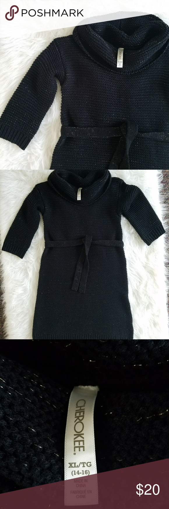 Cherokee black sweater dress | Black sweater dress, Cherokee and ...
