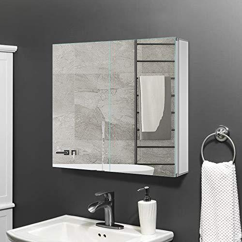 Gatesea 600 X 600 X 120 Mm Bathroom Mirror Cabinet Storage Unit