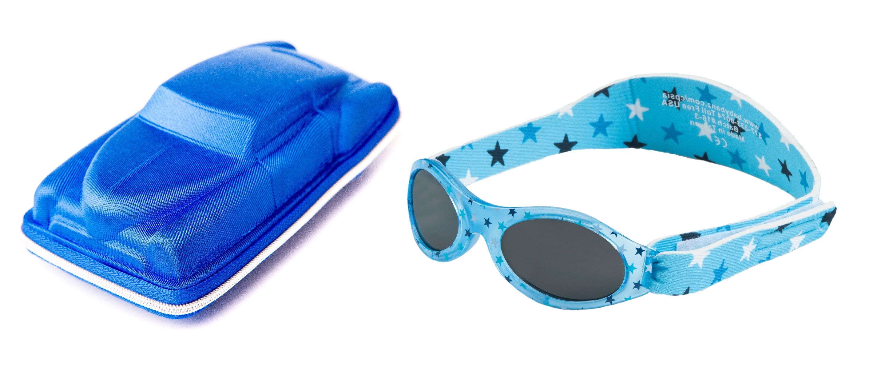 Baby Gift pack Sunglasses case Blue Cuban Car and Babybanz Dooky Blue Stars  Sunglasses 0- ed2ae4e5a3bb