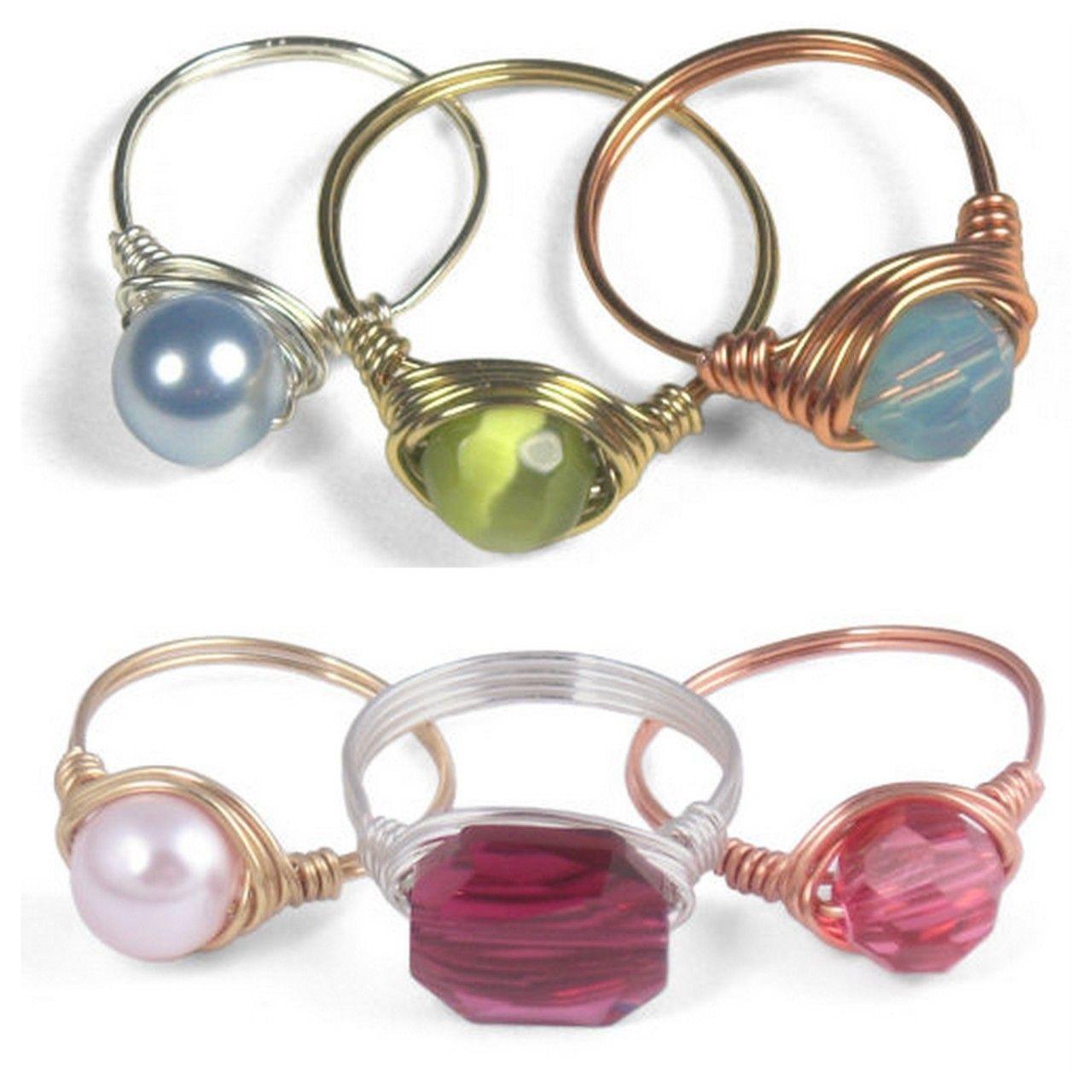 truebluemeandyou: DIY Beginner Wire Wrapped Ring Tutorial. Ring ...