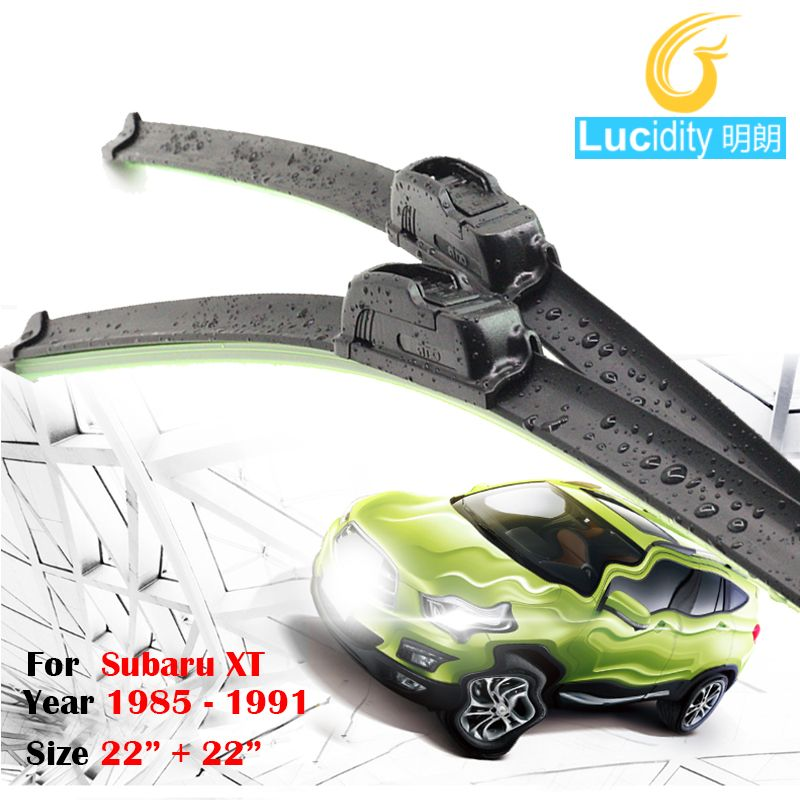 2 Pieces Auto Driver & Passenger Window Windshield Wiper Car Bracketless Soft Rubber Wiper Blade For Subaru XT 1985-1991 #Affiliate
