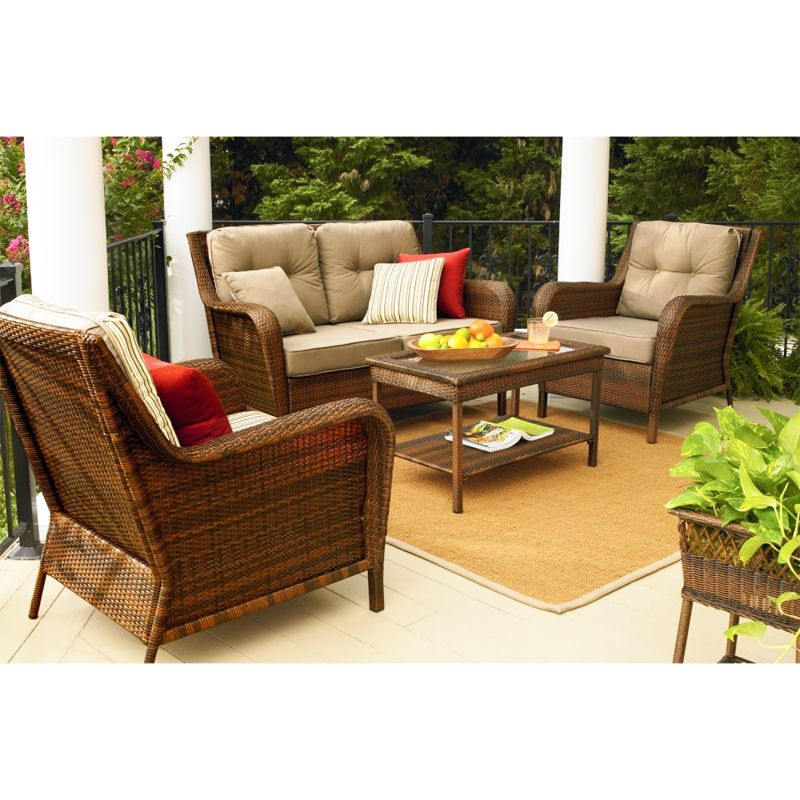 Mayfield Deep Seating Replacement Cushion Set Patio Furniture Sets Replacement Cushions Outdoor Patio Furniture Dining Set