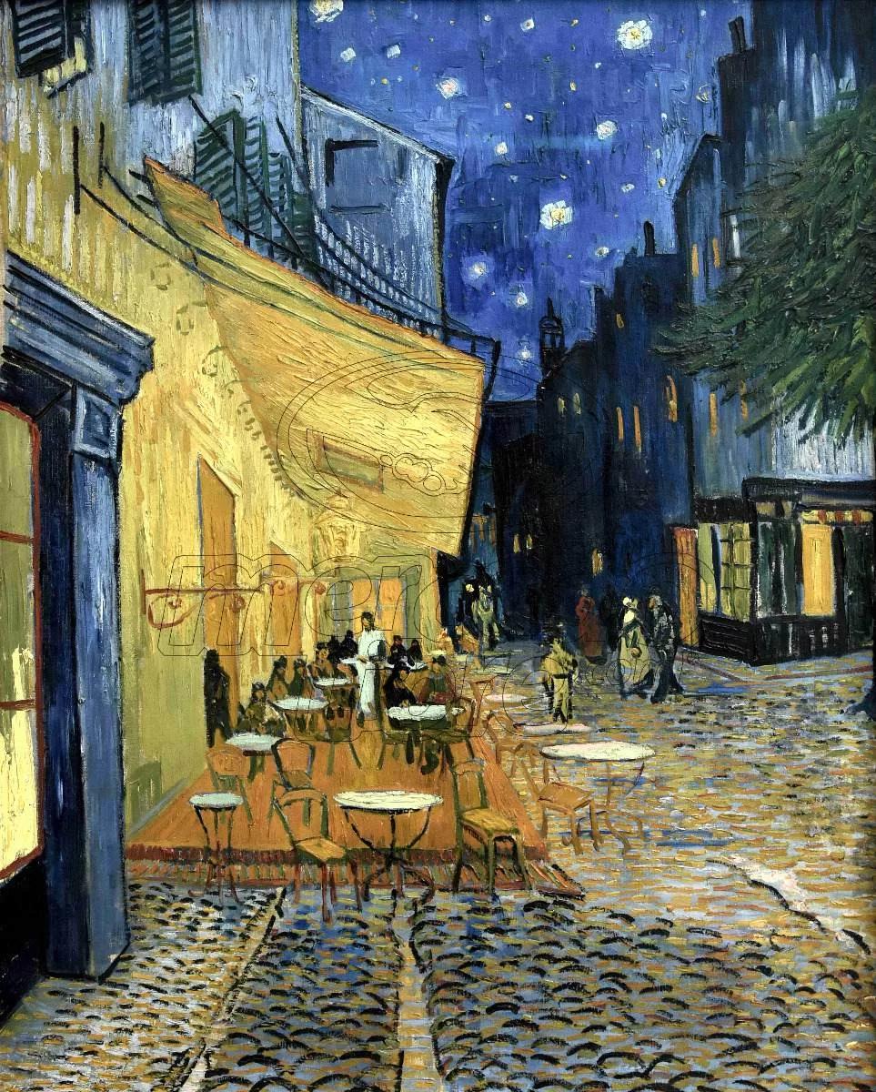 Lienzo Tela Canva Café Terraza Vincent Van Gogh 1888 100x80 1 800 00 Obras De Arte Pinturas Autorretrato Van Gogh Obras De Arte Famosas