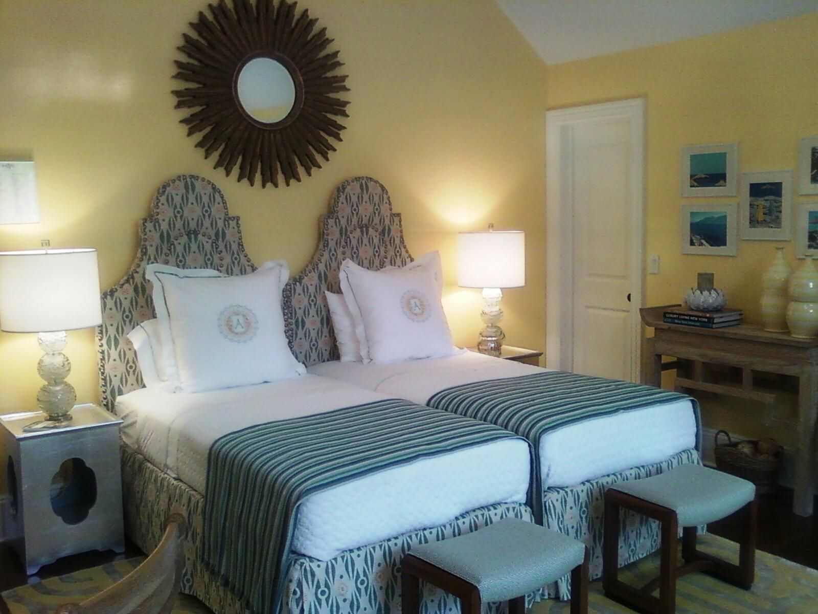 Twins In Yellow Room Twin Beds Guest Room Yellow Bedroom Shared Girls Bedroom