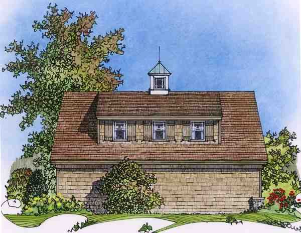 3 Car Garage Apartment Plan Number with 1 Bed 1 Bath