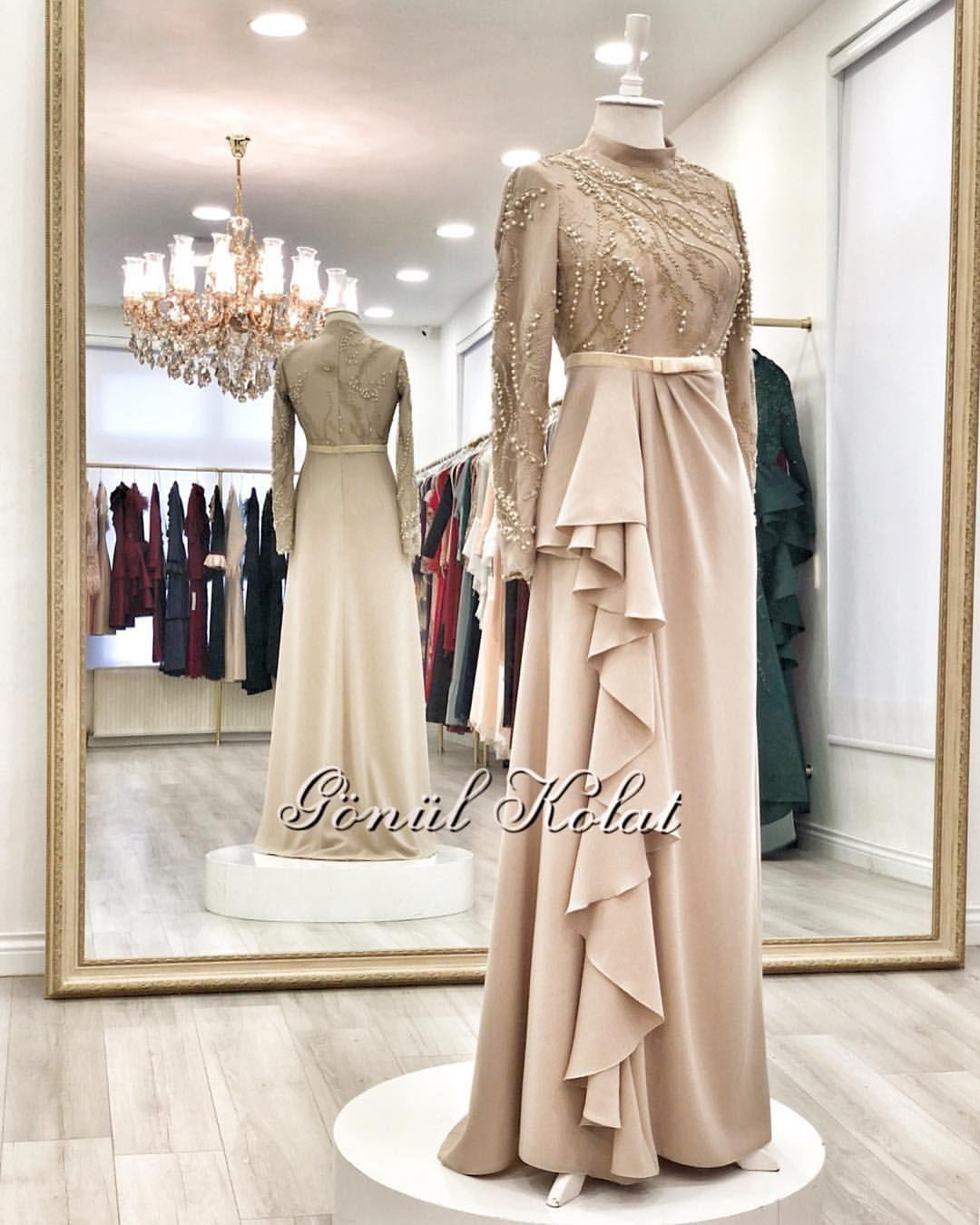 Desain dress  Model pakaian muslim, Gaun perempuan, Model baju wanita