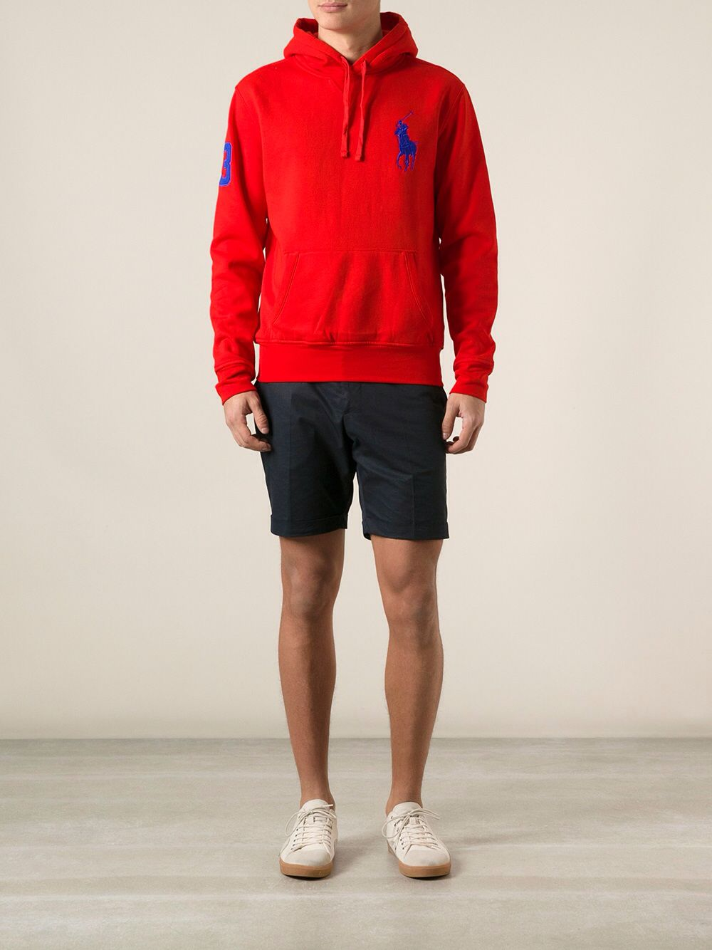 Ralph Lauren Polo Red Hoodie, perfect for winter.