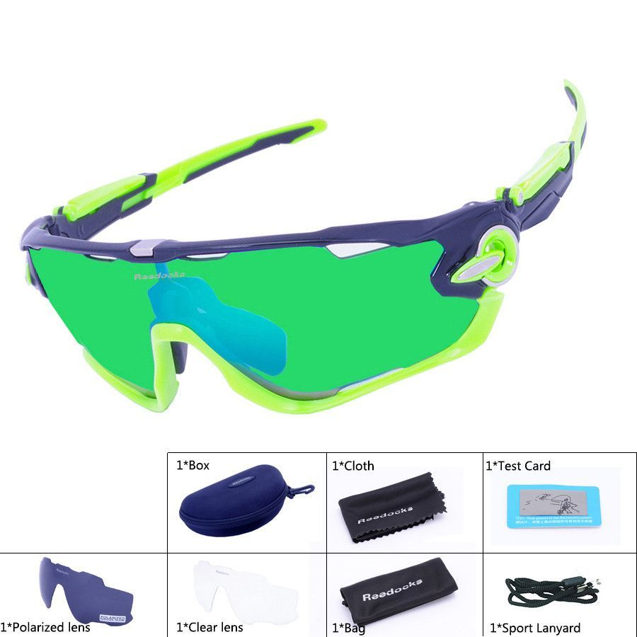 cycling sunglasses sale  3 Lens Mens Polarized Brand Cycling Glasses Mountain Bike Goggles ...