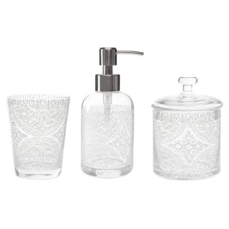 Glass Bathroom Set With A Transfer | ZARA HOME United States Of America