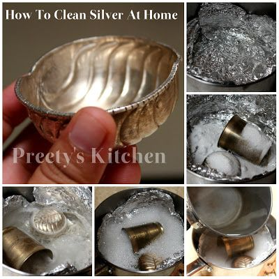 Preety S Kitchen How To Clean Silver At Home Using Natural Cleaners With Pictures