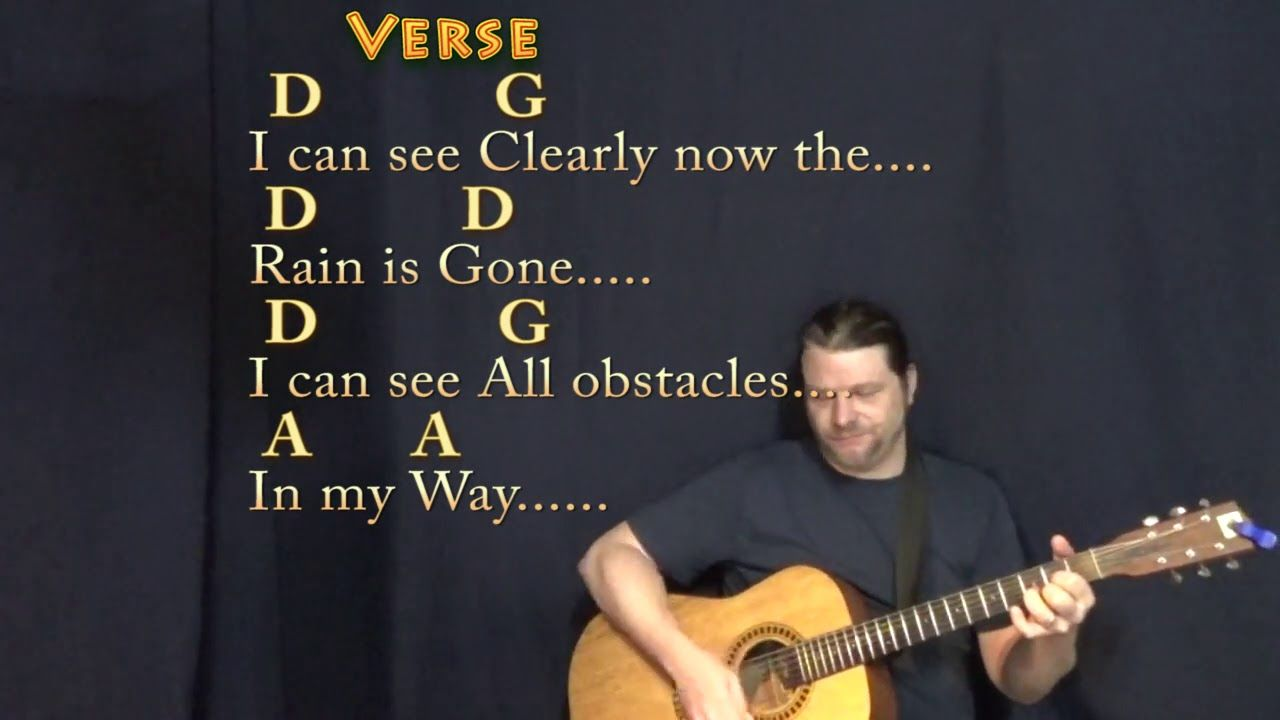 I Can See Clearly Now Jimmy Cliff Guitar Cover Lesson With Chords Lyrics Song Lyrics And Chords Lyrics And Chords Lyrics