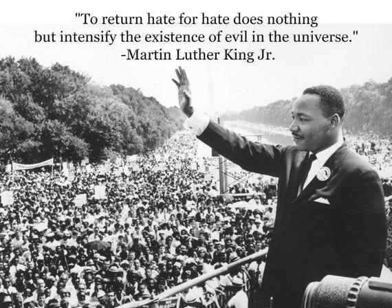 Martin Luther King Jr. Inspirational Motivational Poster