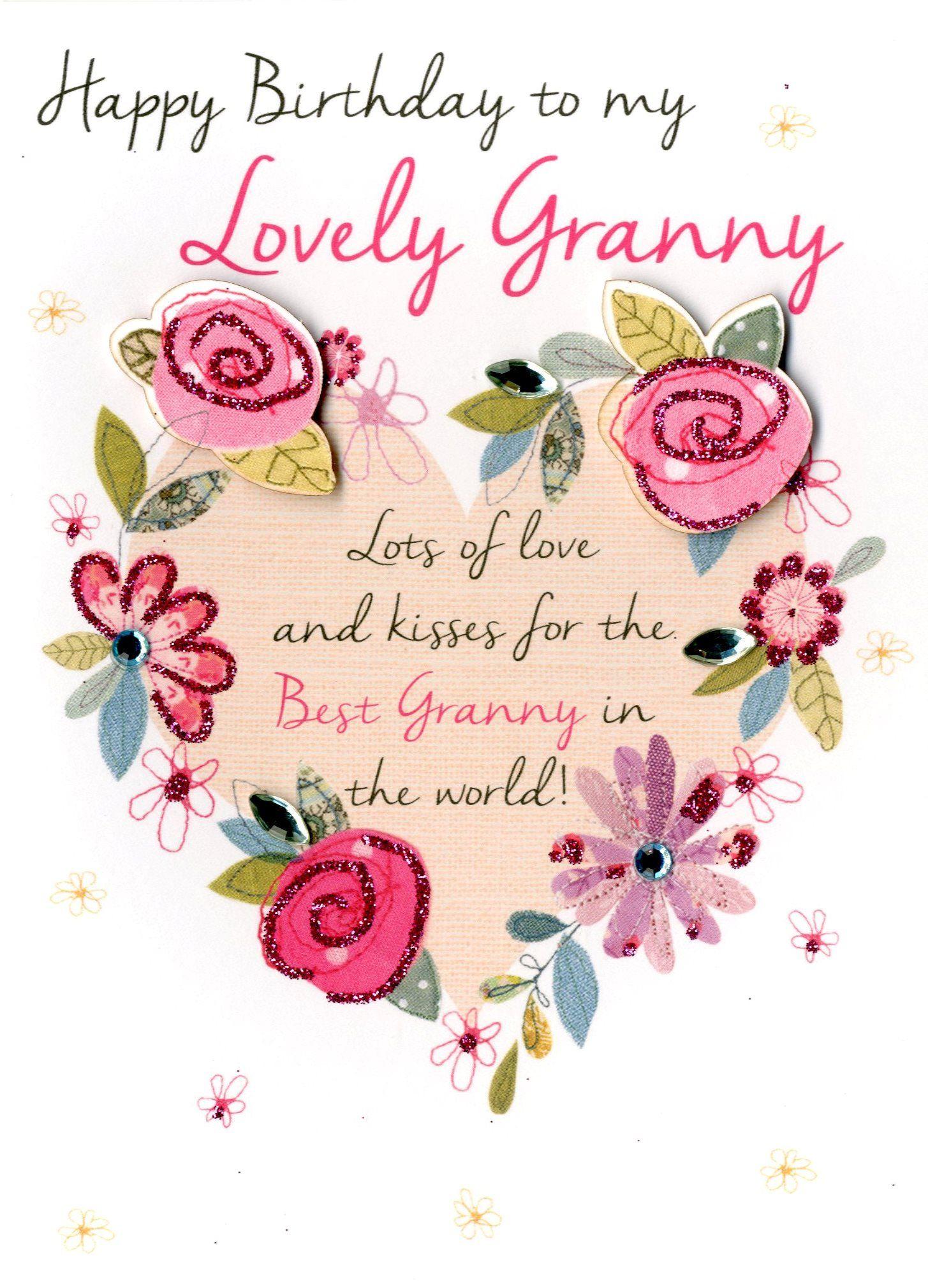 Lovely Granny Happy Birthday Greeting Card Happy Birthday