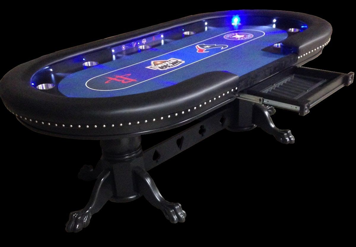 Nice Custom Poker Tables With A Sports Theme #2