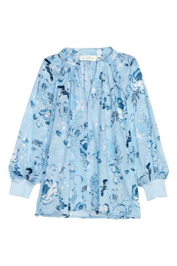 Modal Bluepatterned Women Light Blouse H Products amp;m 5vIxwqTTH