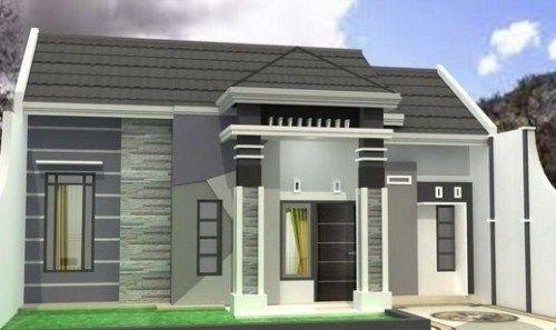 Kombinasi Warna Cat Teras Rumah Abu abu & Putih