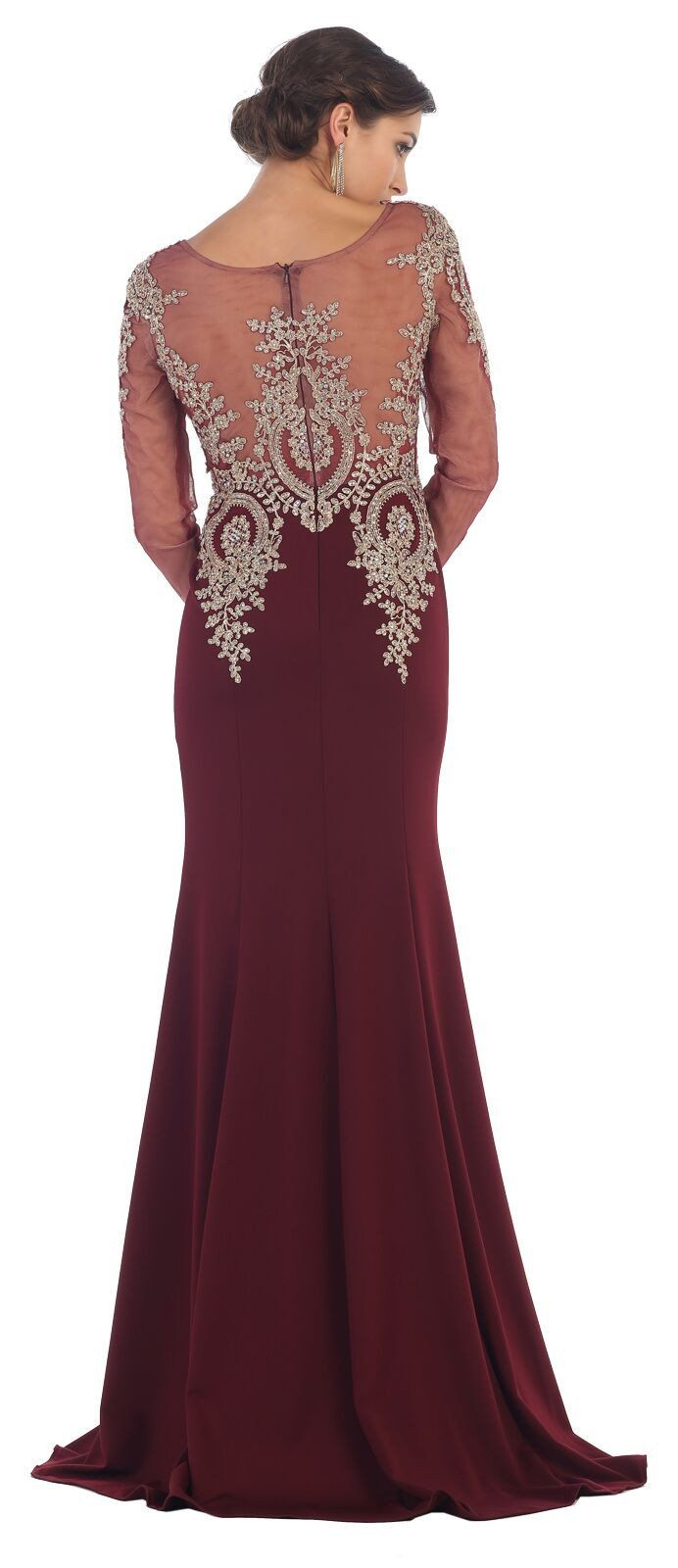 Long sleeve sexy formal evening dress in products