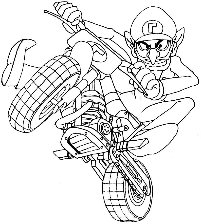 Mario Kart Coloring Pages | tats | Pinterest | Coloring pages, Mario ...