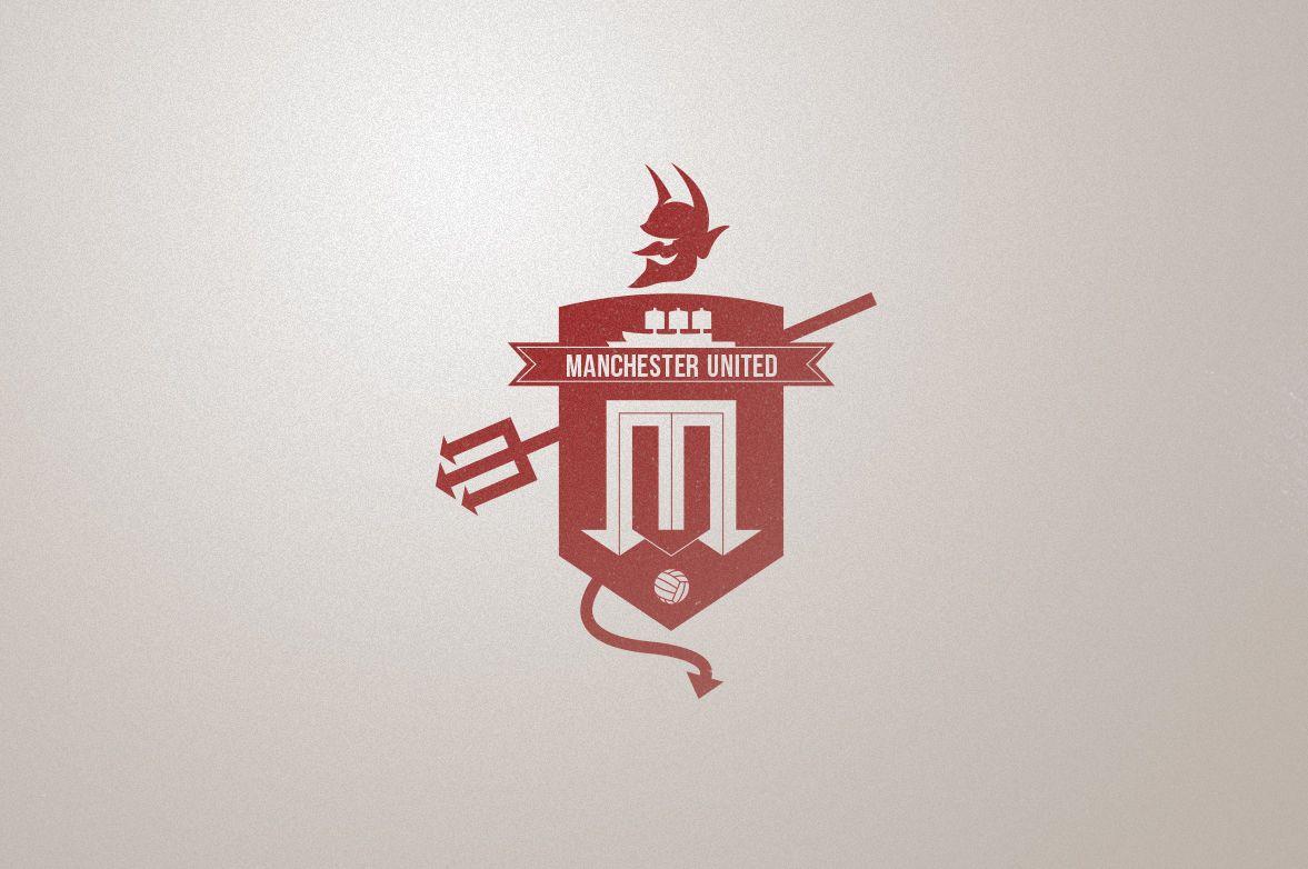 Manchester United Rebranding Concept On Behance Logo Branding Identity Manchester Logo Sports Logo Design
