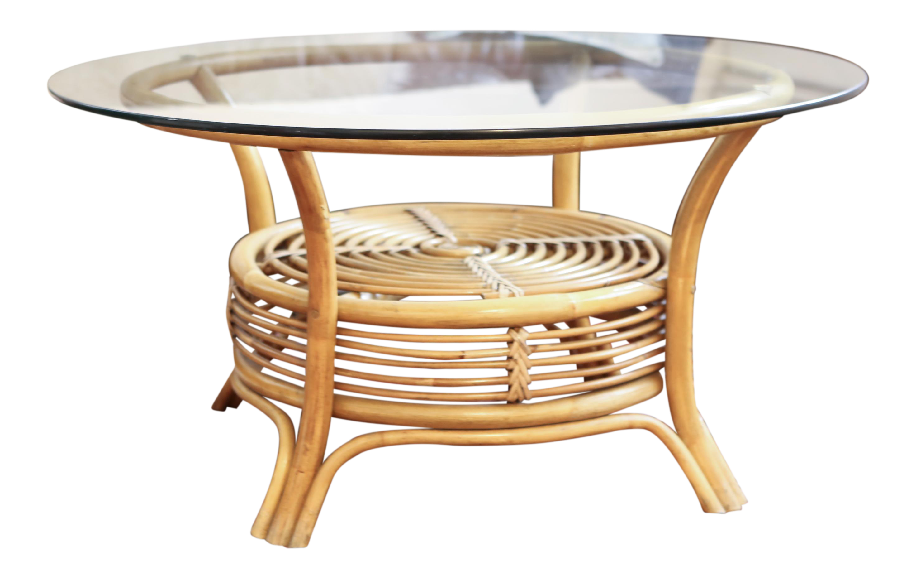 Round Rattan Coffee Table With Glass Top Answerplane Com