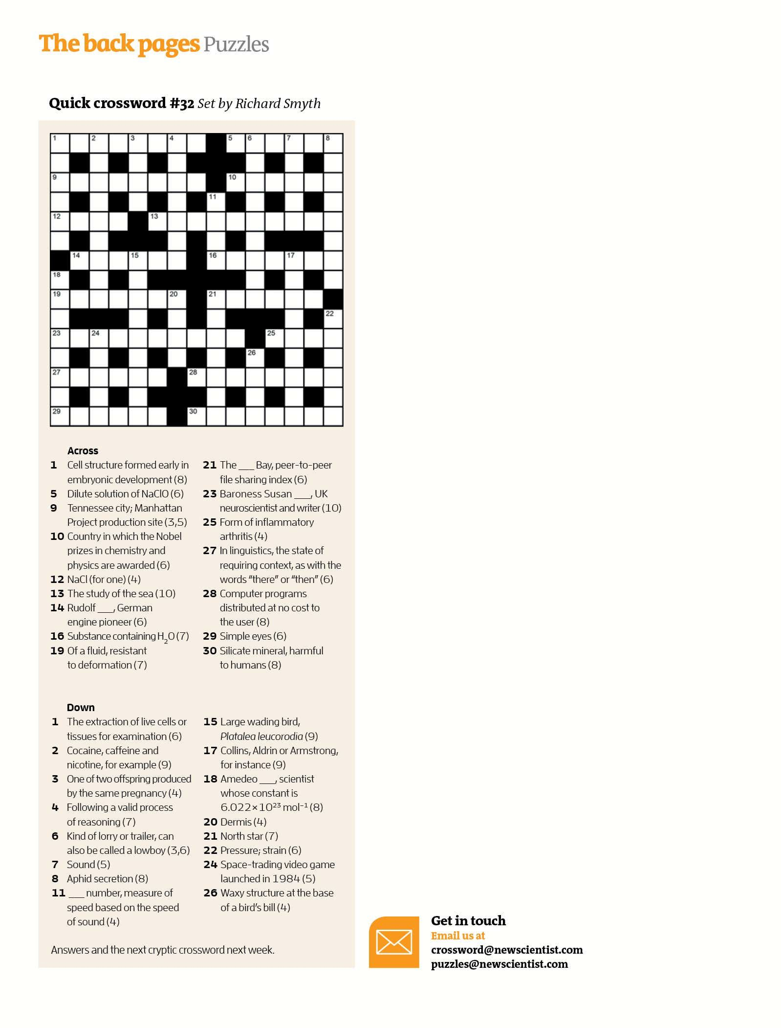 Daily Quick Crossword Printable Version Check More At