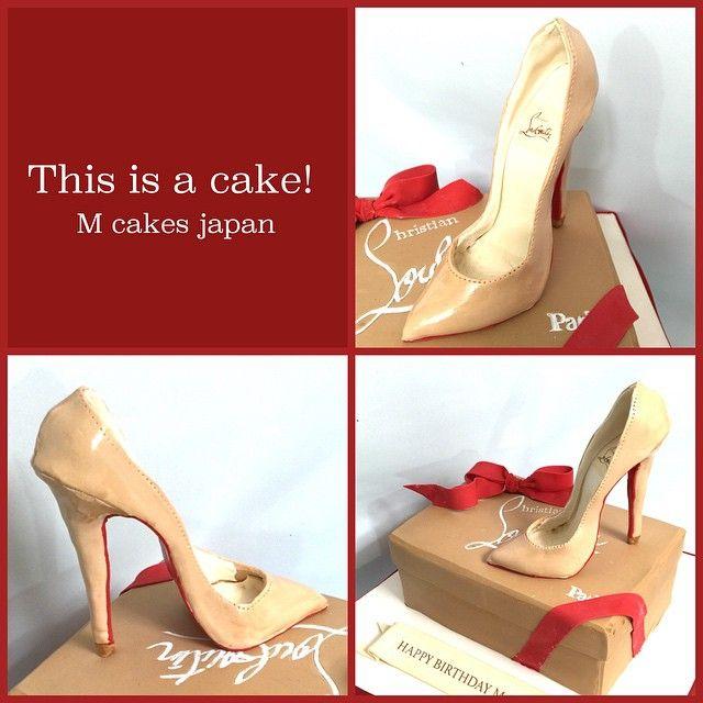ルブタン❤️ #louboutin #louboutincake #ルブタン #ケーキ #誕生日ケーキ #sweets #sugarshoe #fashion #ルブタンケーキ#高級 #ヒール #かっこいい #憧れる #shoecake #sugarart #detailobsessed #Japan #fondantcake #alledible #ハンドメイド
